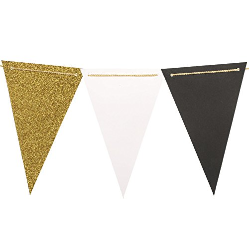 lings-moment-10-feet-vintage-style-pennant-banner-paper-triangle-flags-bunting-for-wedding-baby-show