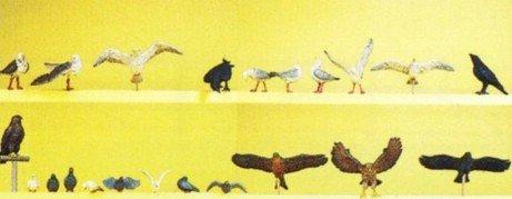 PREISER 10169 PIGEONS CROWS & BIRDS OF PREY HO SCALE MODEL TRAIN FIGURES PR10169 (Preiser Figure compare prices)