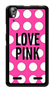 "Humor Gang Love Pink Girly Printed Designer Mobile Back Cover For ""Lenovo A6000"" (3D, Glossy, Premium Quality Snap On Case)"