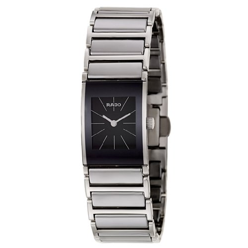 Rado Women's R20786159 Integral Black Dial Quartz Stainless Steel Watch