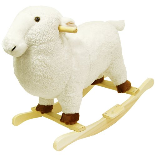Happy Trails Lamb Plush Rocking Animal - 1