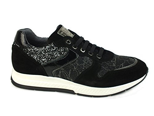 ALVIERO MARTINI 1^ Classe sneakers PELLE TESSUTO BLACK N 2152 CRQ2 38