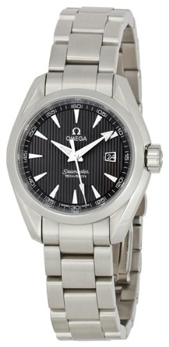 Omega Women's 231.10.30.61.06.001 Seamaster Aqua Terra Quartz Grey Dial Watch