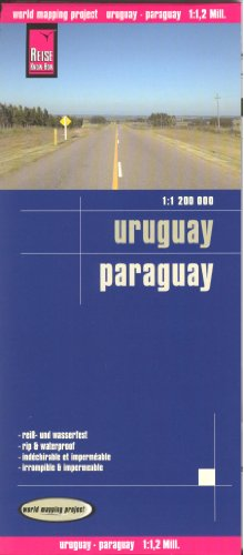 Uruguay and Paraguay 1:1,200,000 Travel Map, waterproof, GPS-compatible, REISE