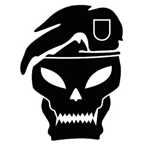 Buy  duty skull sticker 6 inch Black black ops 2 - call of duty - black ops