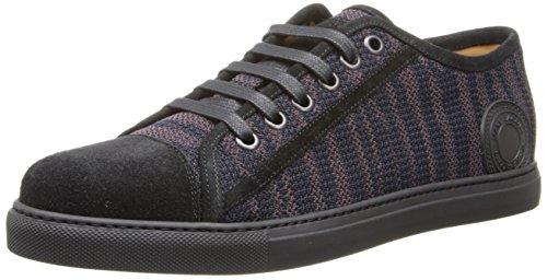 Marc Jacobs Men'S Stripe Lowtop Fashion Sneaker,Burgundy,44 Br/10 M Us
