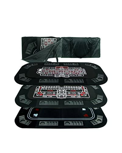 Trademark Games Superior 3-in-1 Poker/Craps/Roulette Tri-Fold Table Top, Multi