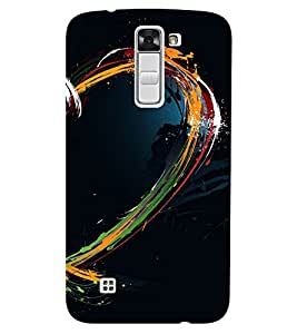 Chiraiyaa Designer Printed Premium Back Cover Case for LG K10 LTE (Heart shape water color colorful) (Multicolor)