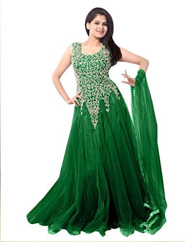 Ethnicbasket-Womens-Net-Ethnic-Semi-Stitched-Gown-BE234014IGreen