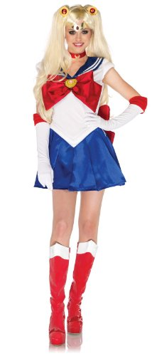 Leg Avenue Sailor Moon Deluxe Adult Costume Red/White/Blue X-Small