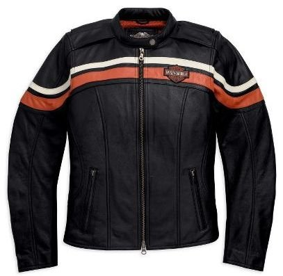 Harley-Davidson? Women's Sporty Leather Jacket. Lightweight. Embroidery. 98198-11VW