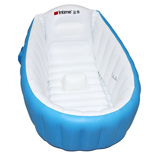 Signstek Baby Infant Travel Inflatable Non Slip Bathing Tub Bathtub Blue (Baby Bath Air Tub compare prices)