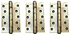Antique Brass Ball bearing Hinges set of 3 - 5 Inch
