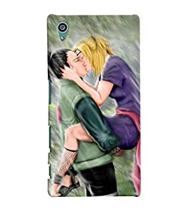 Fuson Rain Love Couple Back Case Cover for SONY XPERIA Z5 - D3810