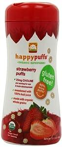 (好评)Happy Baby Gluten-Free 禧贝有机全麦水果泡芙小麦圈草莓味6瓶SS$16.07