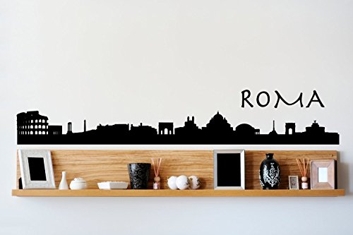 lodicae Roma Roma Italia skyline adesivo da parete-76,2x 12,7cm
