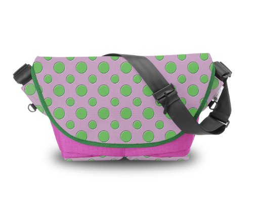 Atrangee Polka Messenger Bag (Pink, Green) (multicolor)