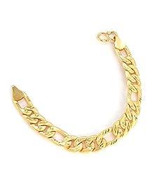 J S Imitatgion Jewellery Gold Plated Chain Bracelet For Boys/Mens