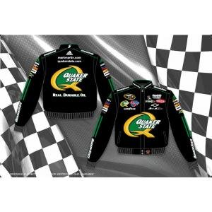 Mark Martin Quaker State Mens Black Nascar Twill Jacket by RacingGifts