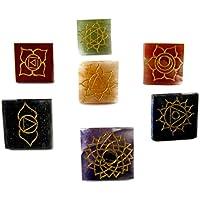 Eshoppee Chakra Stone Pyramids Reiki Symbols Engraved 7 Pcs Set , Balancing Set