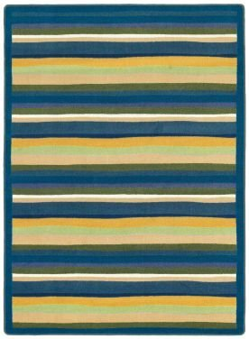 "Joy Carpets Kid Essentials Active Play & Juvenile Oval Yipes Stripes Rug, Bold, 7'8"" x 10'9"""