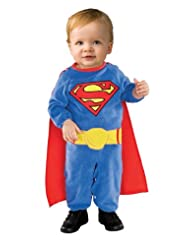 Rubies Costume Co Superman Romper With Removable Cape Superman
