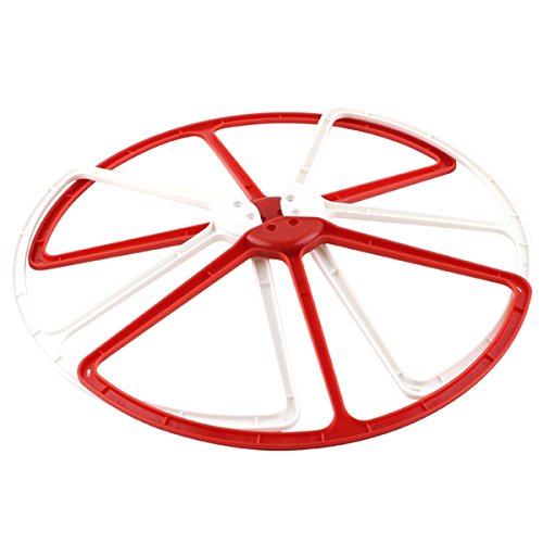Pixnor 4pcs Durable Propeller Prop Blade Protective Guards Protectors Bumpers for DJI Phantom 2 Vision (Red+White) - 1