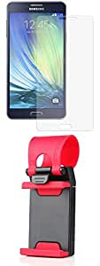 Tempered Glass Screen Guard for Samsung Samsung Galaxy A7 - Combo