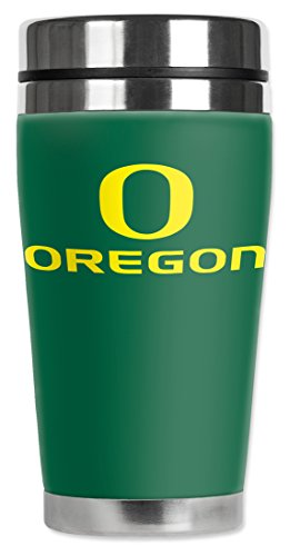Mugzie® Brand 16-Ounce Travel Mug With Insulated Wetsuit Cover - Oregon Ducks