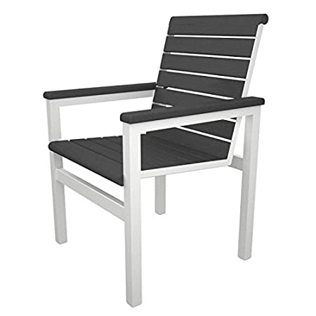 Mod Dining Arm Chair Seat Color: Slate Grey, Frame Finish: Textured White