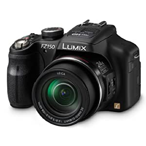 $330 Panasonic DMC-FZ150K 12.1 MP Digital Camera with CMOS Sensor and 24x Optical Zoom (Black)