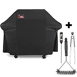 Kingkong Gas Grill Cover 7553 | 7107 Premium Cover for Weber Genesis E and S Series Gas Grills Includes Grill Brush, Tongs and Thermometer Kingkong Inc.