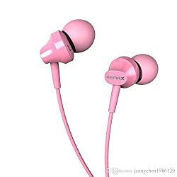 "KELWORLDâ""¢ High Quality REMAX In-Ear Headphones With 3.5MM Stereo Jack - PINK"