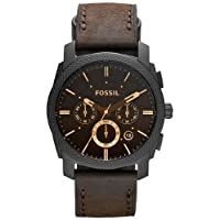 Fossil Machine stopwatch Analog Brown Dial Men's Watch - FS4656