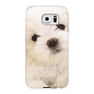 Cute Cute Pup White Back Case Cover for Samsung Galaxy S6