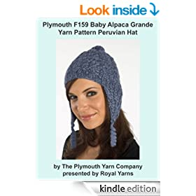 Plymouth F159 Baby Alpaca Grande Yarn Pattern Peruvian Hat (I Want To Knit)