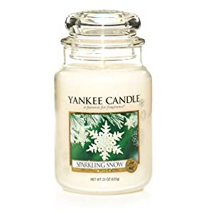 Yankee Candles Jar Candle (Large) (Sparkling Snow) by Yankee Candles