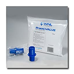 WNL Safety Products 5000TV Blue Plastic CPR Rescue Mask Training Practi-Valves (Pack of 10)