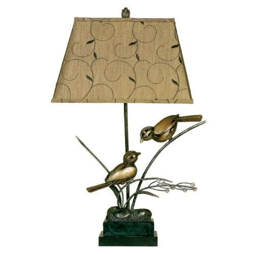 Twin Bird Table Lamp by Passport Accent Furniture (Gold) (24