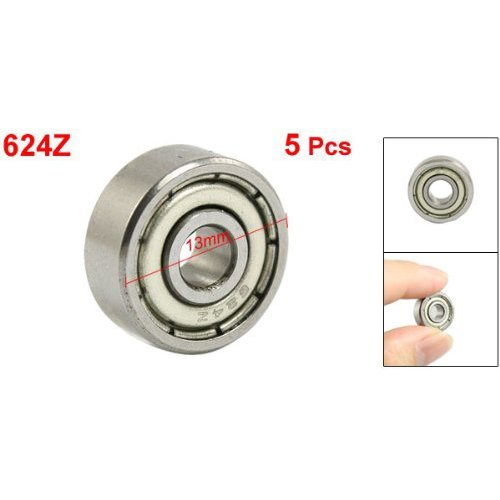 SODIAL(R) 4 x 13 x 5mm Shielded Micro Mini Small Wheel Ball Bearings 624Z 5 Pcs (Small Wheels With Bearings compare prices)