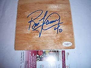 Bill Laimbeer Detroit Pistons Jsa coa Signed 6x6 Floorboard - Autographed NBA Floor... by Sports Memorabilia