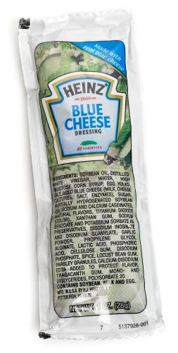 Heinz Blue Cheese Dressing, 1-Ounce Single Serve Packet (Pack of 100)