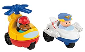 Fisher Price Little People Wheelies Jet and Helicopter