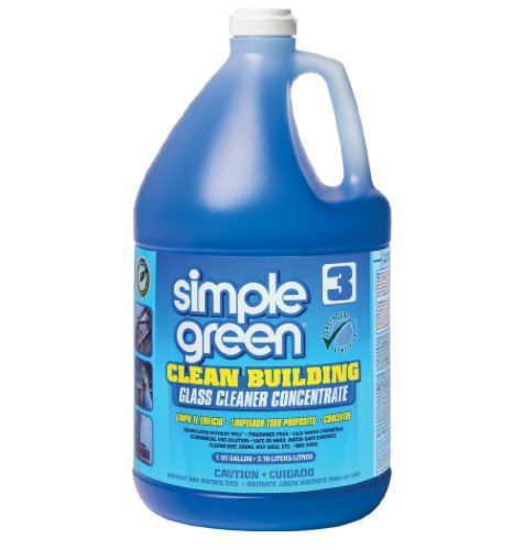 Simple Green 11301 Clean Building Glass Concentrate Cleaner, 1 Gallon Bottle