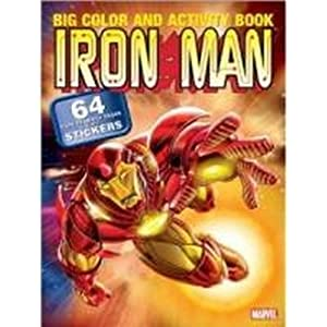 Iron Man Marvel Super Hero Color Book With Stickers