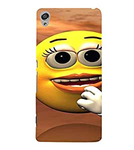 Printvisa Telephonic Smiley Back Case Cover for Sony Xperia XA