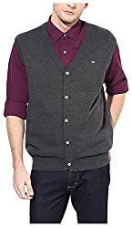 UV&W Men's Cotton Sweater (FWFK3333_S_Anthra, Anthra Small)