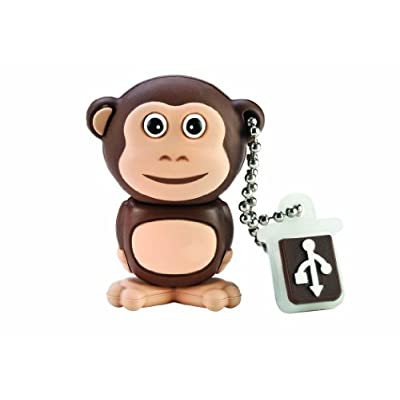 EMTEC Animal Series Safari 8 GB USB 2.0 Flash Drive, Monkey