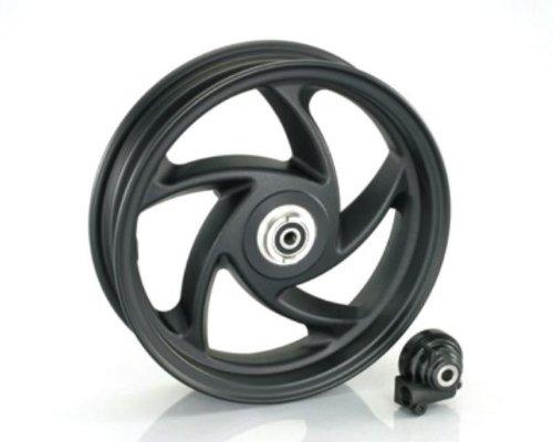 キタコ(KITACO) スポークキャストホイール(10インチ5本) ブラック(フロント用) アドレスV125/G アドレスV125-G 509-2407710