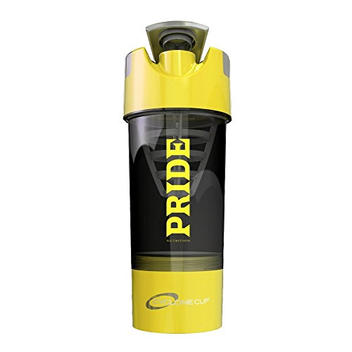 #1 Pride Shaker Bottle 20oz- Patented Cyclone Blender Cup Design For Mixing Protein Powders, Pre & Post Workout Supplements or Fruit Infuser- No Clumps Or Chunks- (Yellow) (Patented Blender compare prices)
